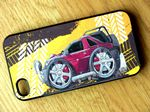 Koolart TYRE TRAX 4x4 Design For Retro Land Rover Freelander 1 Hard Case Cover Fits Apple iPhone 4 & 4s